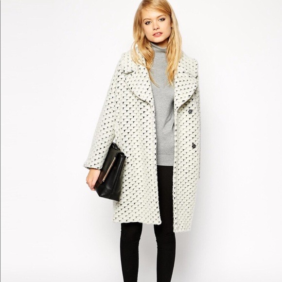 e78d7db7b78 ASOS Jackets   Blazers - Coat With Cocoon Fit In Texture Taylor Swift